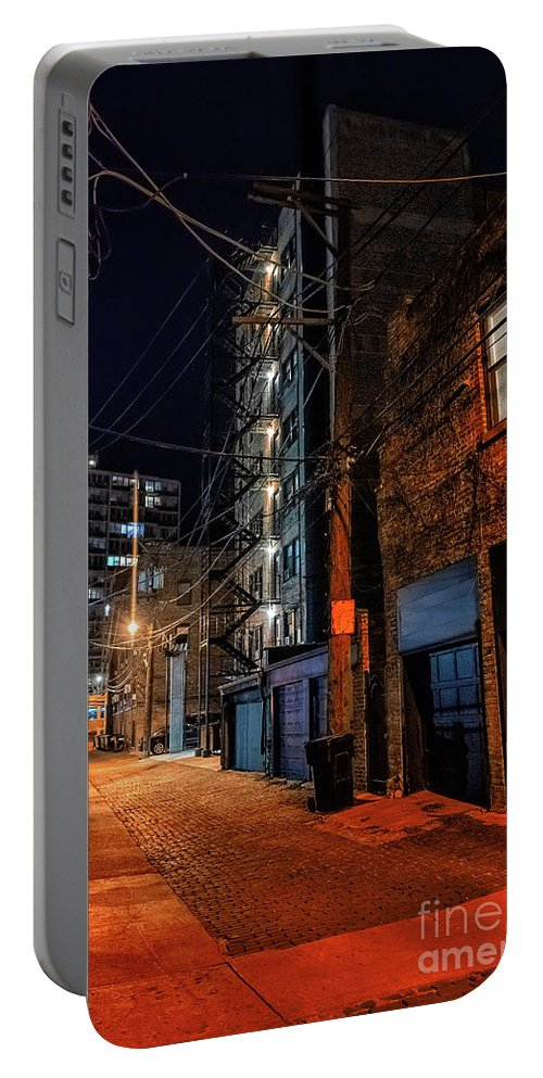 Chicago Portable Battery Charger featuring the photograph Chicago Nights by Bruno Passigatti
