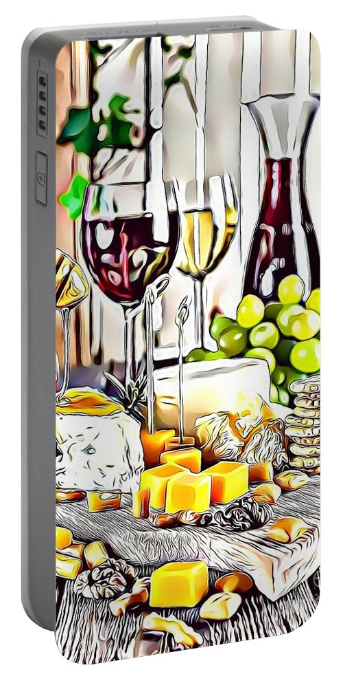 Urban Portable Battery Charger featuring the digital art 1 Eat Me Now by Leo Rodriguez