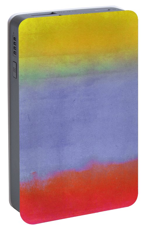 Gradients Portable Battery Charger featuring the painting Gradients II 1 by Mindy Sommers