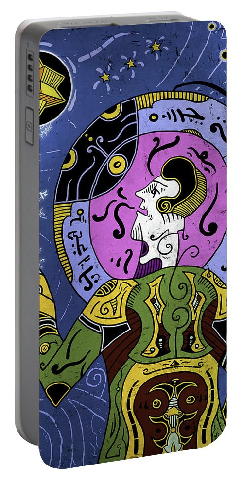 Philosopher Portable Battery Charger featuring the digital art Incal by Sotuland Art