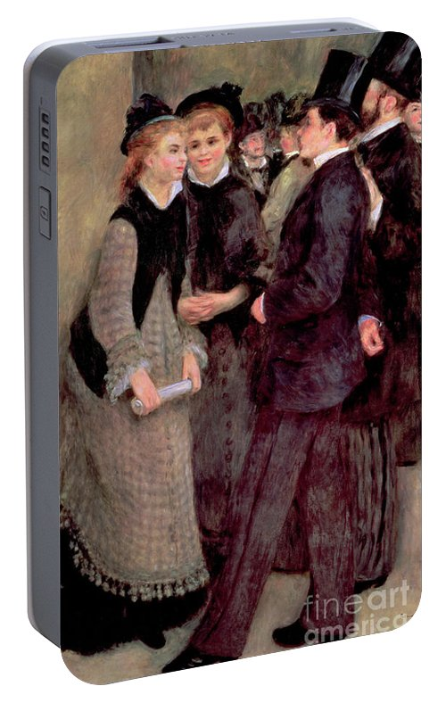 Renoir Portable Battery Charger featuring the painting Leaving The Conservatory by Pierre Auguste Renoir