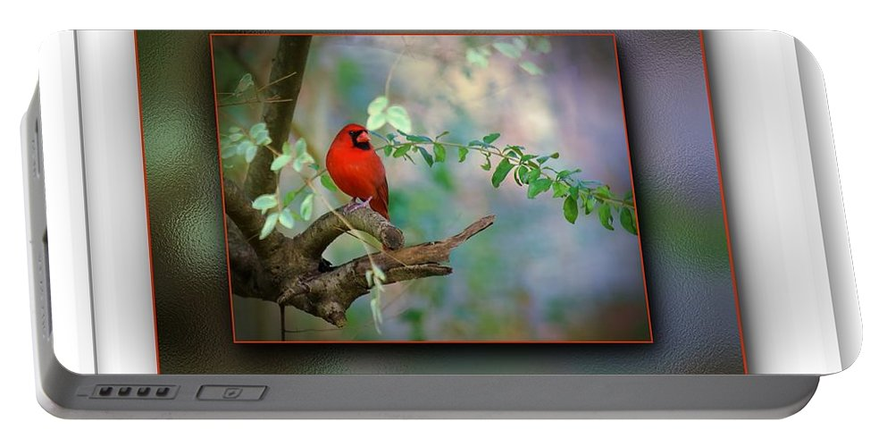 Northern Cardinal Portable Battery Charger featuring the photograph Northern Cardinal by Robert L Jackson