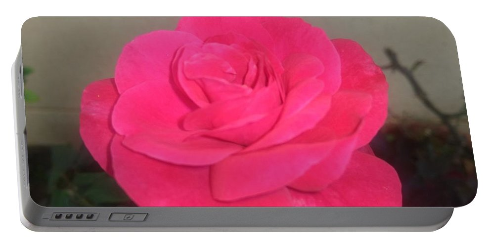 Portable Battery Charger featuring the photograph Pink Rose by Nimu Bajaj and Seema Devjani