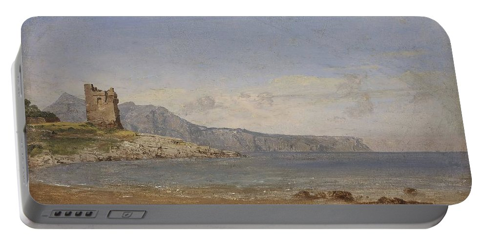 Jasper Francis Cropsey Portable Battery Charger featuring the painting View Of Capri by Jasper Francis Cropsey