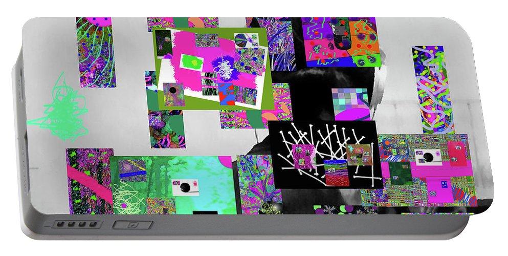 Walter Paul Bebirian Portable Battery Charger featuring the digital art 10-22-2015cabcdefghijklmnopqrtuvwxyzabcdefghijk by Walter Paul Bebirian