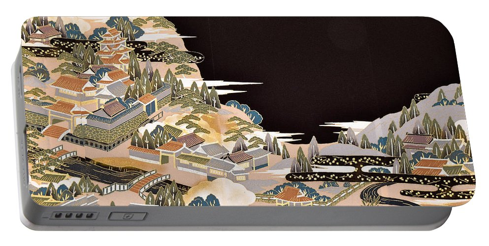 Portable Battery Charger featuring the digital art Spirit of Japan T72 by Miho Kanamori