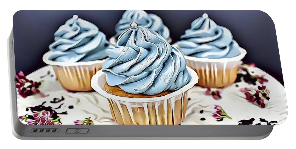 Urban Portable Battery Charger featuring the digital art 16 Eat Me Now by Leo Rodriguez