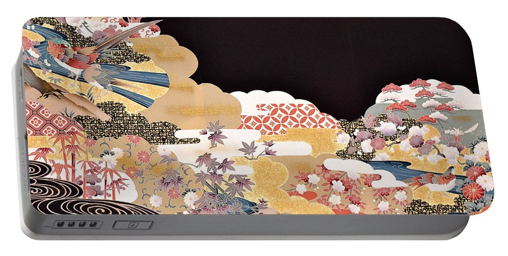 Portable Battery Charger featuring the digital art Spirit of Japan T65 by Miho Kanamori