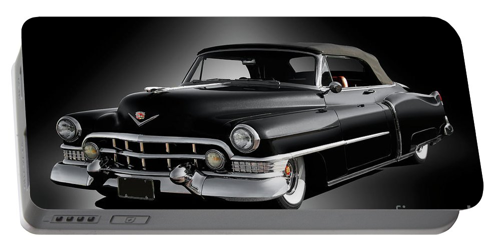 Auto Portable Battery Charger featuring the photograph 1951 Cadillac Series 62 Convertible by Dave Koontz