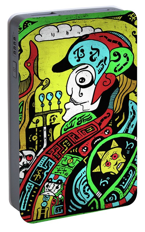 Emperor Portable Battery Charger featuring the digital art Emperor by Sotuland Art