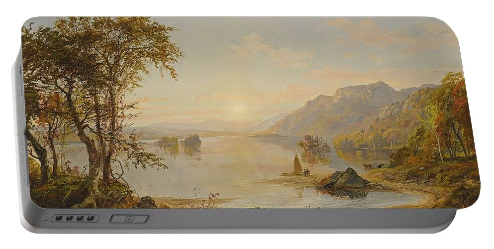 Jasper Francis Cropsey Portable Battery Charger featuring the painting Lake George by Jasper Francis Cropsey