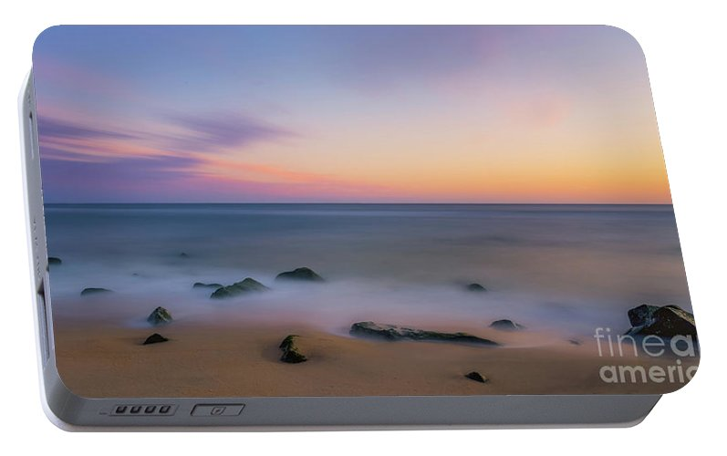 Sunrise Portable Battery Charger featuring the photograph Sandy Hook Sunrise 2 by Michael Ver Sprill