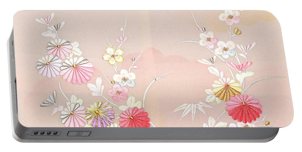 Portable Battery Charger featuring the digital art Spirit of Japan H17 by Miho Kanamori