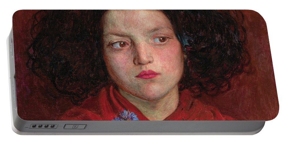 British Portable Battery Charger featuring the painting The Irish Girl by Ford Madox Brown