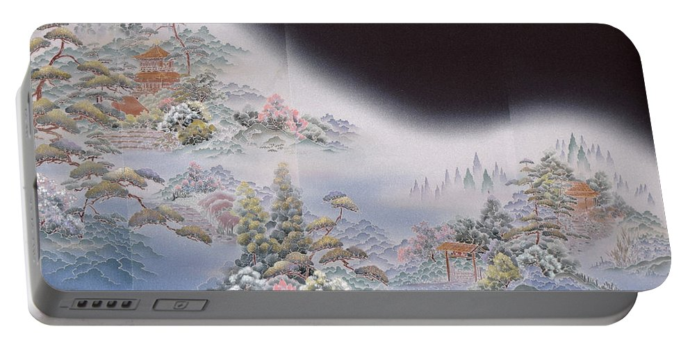 Portable Battery Charger featuring the digital art Spirit of Japan T64 by Miho Kanamori
