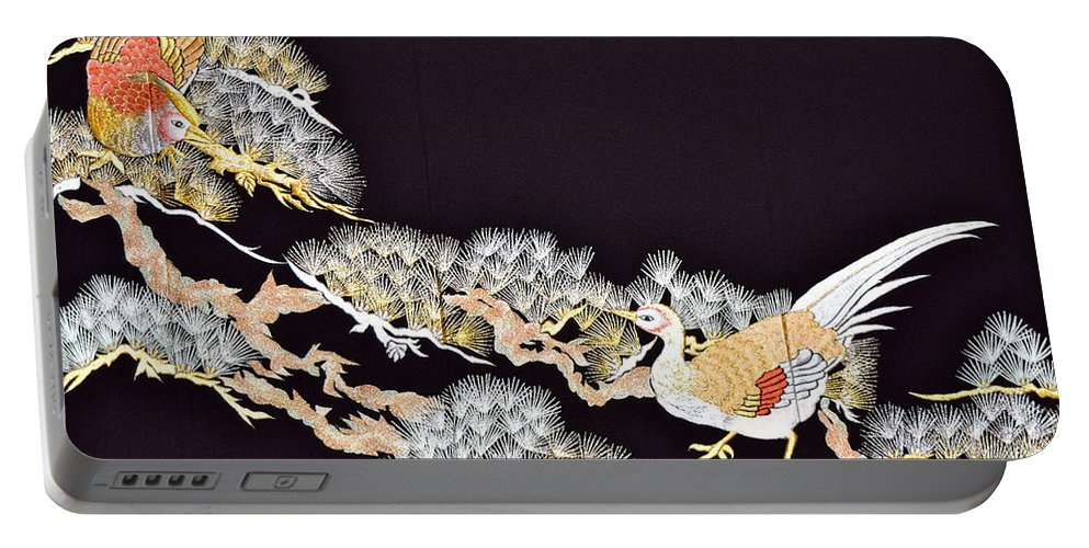 Portable Battery Charger featuring the digital art Spirit of Japan T62 by Miho Kanamori