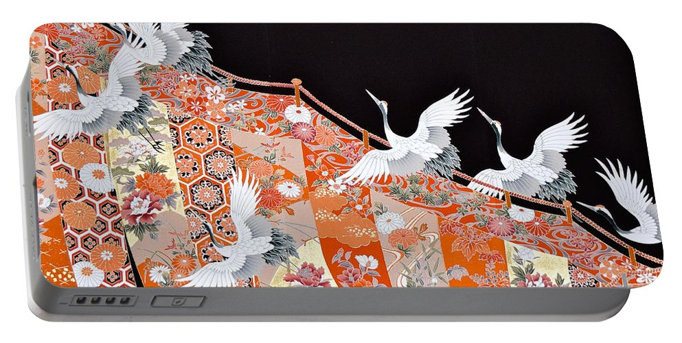 Portable Battery Charger featuring the digital art Spirit of Japan T42 by Miho Kanamori