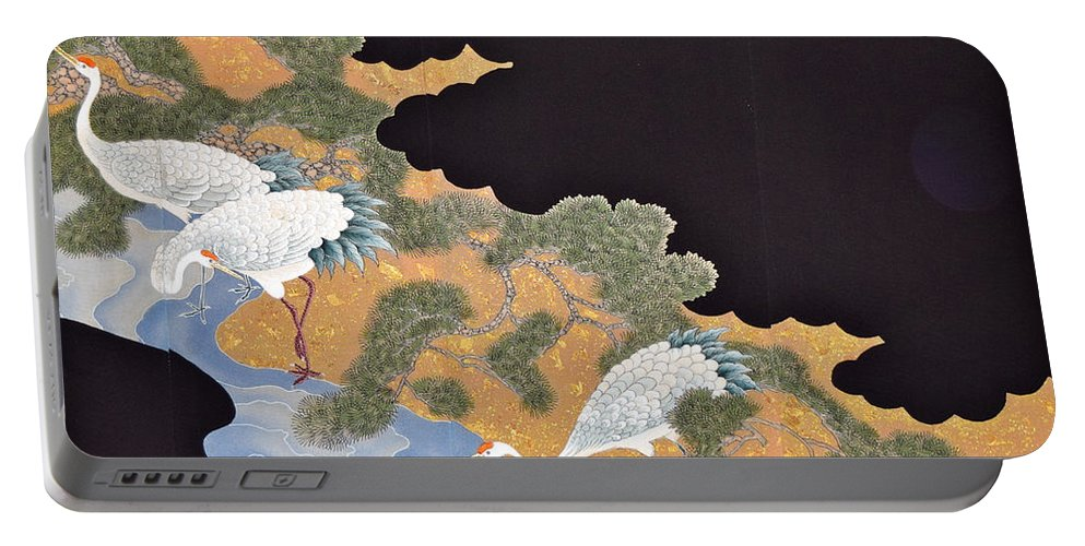 Portable Battery Charger featuring the tapestry - textile Spirit of Japan T57 by Miho Kanamori