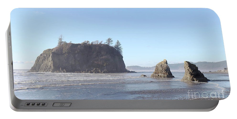 Ruby Portable Battery Charger featuring the photograph Ruby Beach Sunshine by Benjamin Hanna