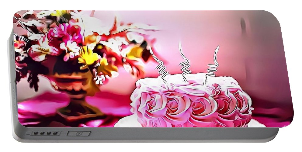 Urban Portable Battery Charger featuring the digital art 4 Eat Me Now by Leo Rodriguez