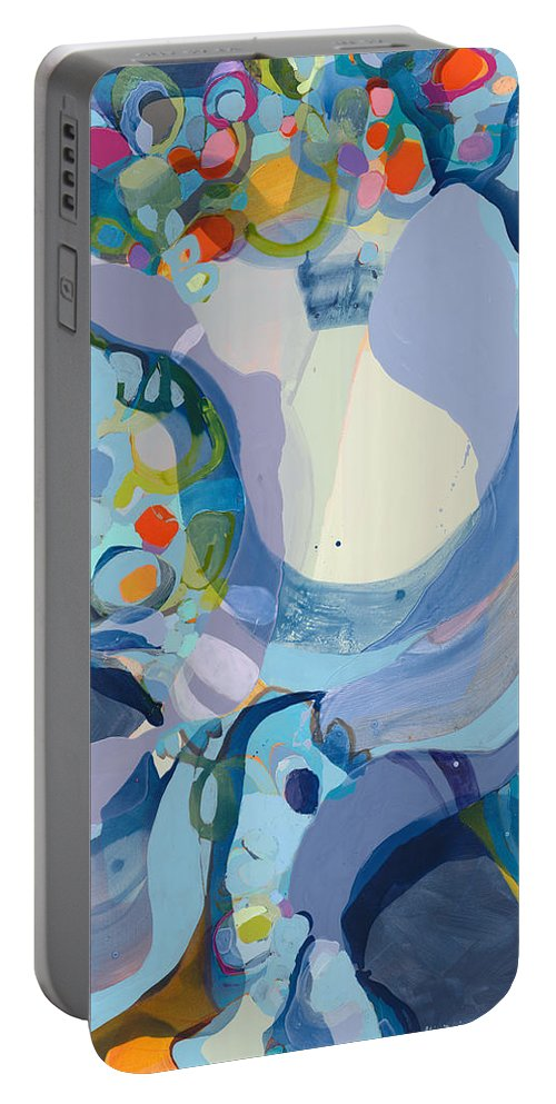 Abstract Portable Battery Charger featuring the painting 70 Degrees by Claire Desjardins