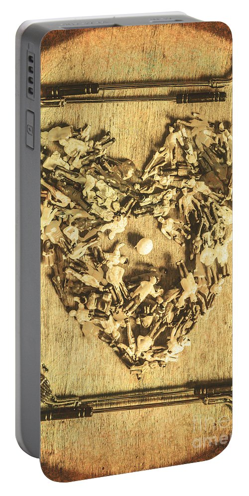 Vintage Portable Battery Charger featuring the photograph A Course For Romance by Jorgo Photography - Wall Art Gallery