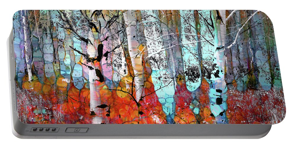 Tree Portable Battery Charger featuring the photograph A Party In The Forest by Tara Turner