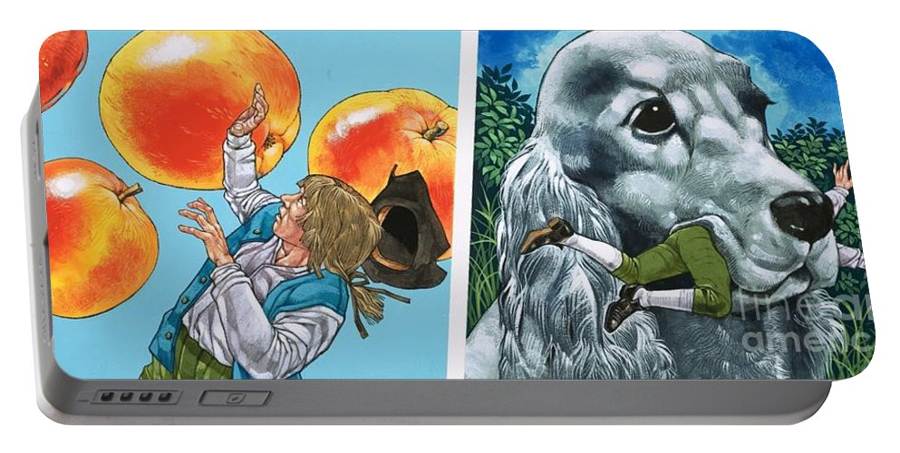 Gullivers Portable Battery Charger featuring the painting A Scene From Gullivers Travels by Richard Hook