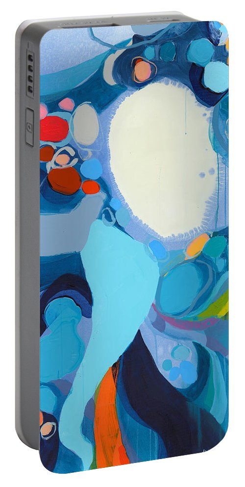 Abstract Portable Battery Charger featuring the painting A Woman Named Emory by Claire Desjardins