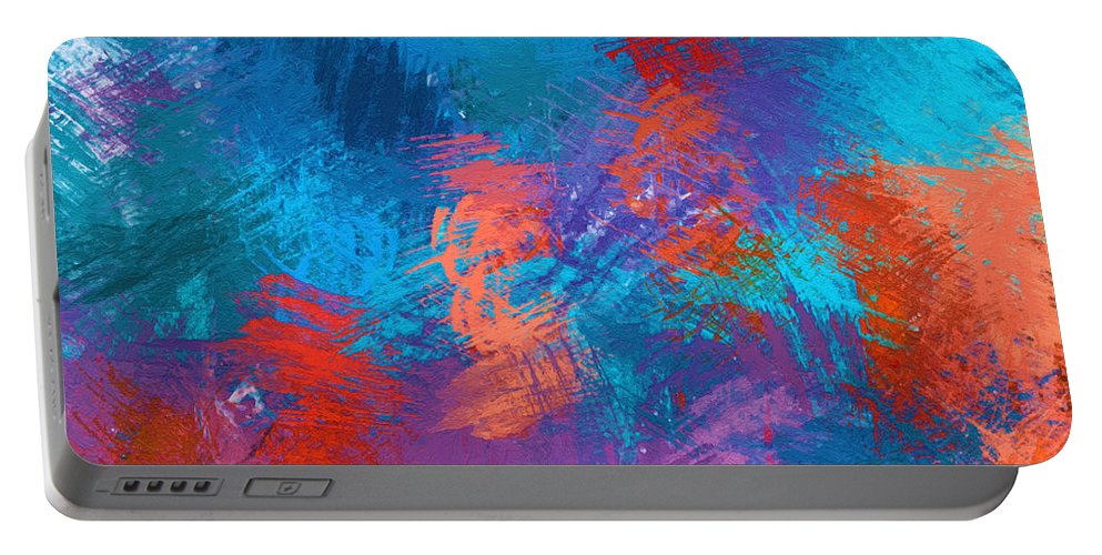 Abstract Portable Battery Charger featuring the painting Abstract - Dwp438638009 by Dean Wittle
