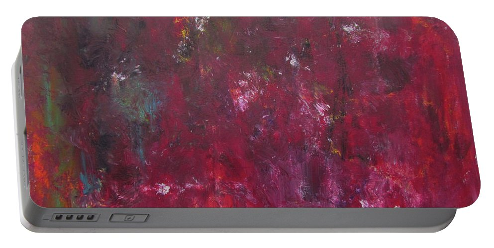 Rust Red Portable Battery Charger featuring the painting Abstract Painting Rust Red by Patricia Piotrak