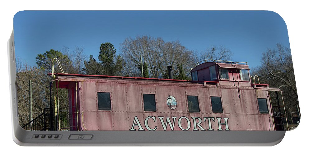 Railroad Portable Battery Charger featuring the photograph Acworth Ga by Tom Gari Gallery-Three-Photography
