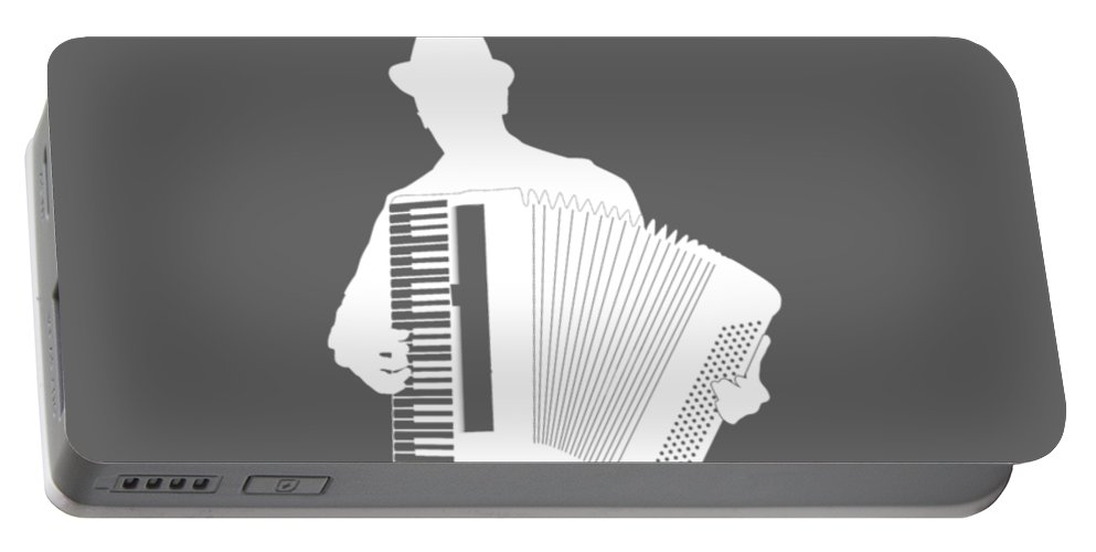 All Moms Portable Battery Charger featuring the digital art All Moms Gave Birth A Child My Mom Gave Birth A Accordion Legend by Do David