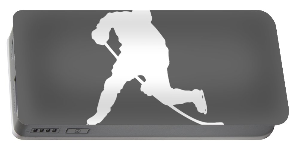 All Moms Portable Battery Charger featuring the digital art All Moms Gave Birth A Child My Mom Gave Birth A Hockey Legend by Do David