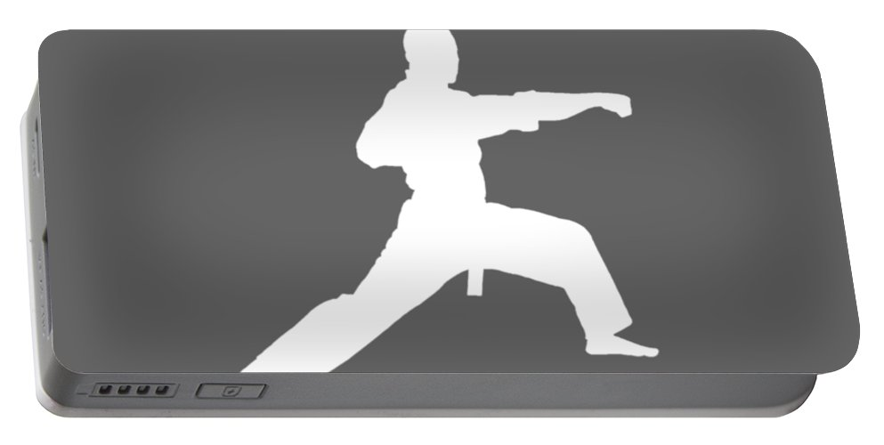 All Moms Portable Battery Charger featuring the digital art All Moms Gave Birth A Child My Mom Gave Birth A Karate Legend by Do David