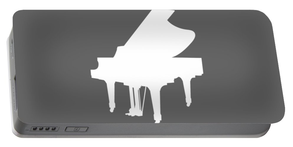 All Moms Portable Battery Charger featuring the digital art All Moms Gave Birth A Child My Mom Gave Birth A Piano Legend by Do David
