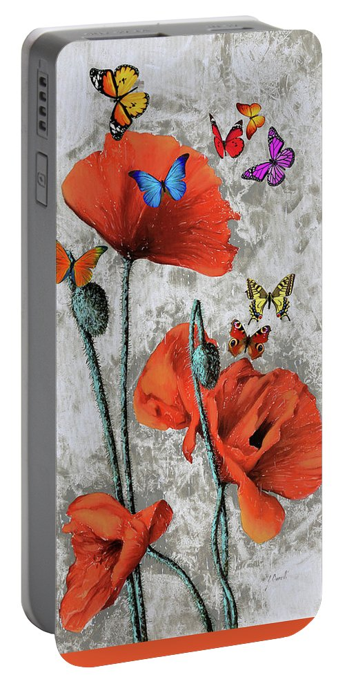 More Butterflies Portable Battery Charger featuring the painting Altre Farfalline by Guido Borelli