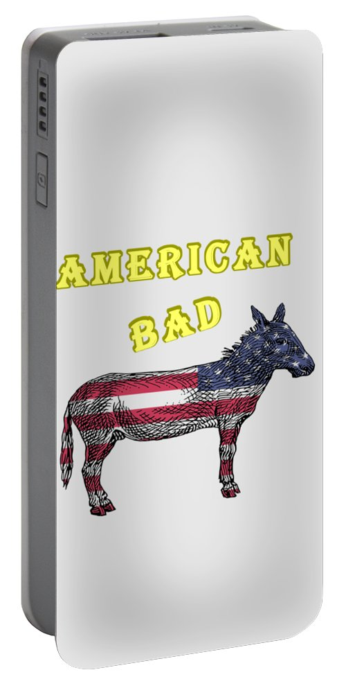 American Portable Battery Charger featuring the digital art American Bad Ass by John Da Graca