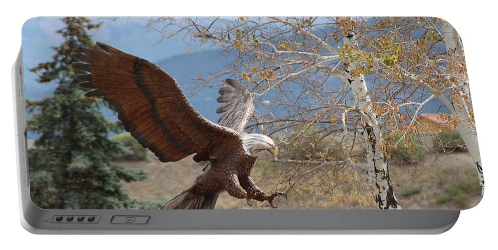 Eagle Portable Battery Charger featuring the photograph American Eagle in Autumn by Colleen Cornelius