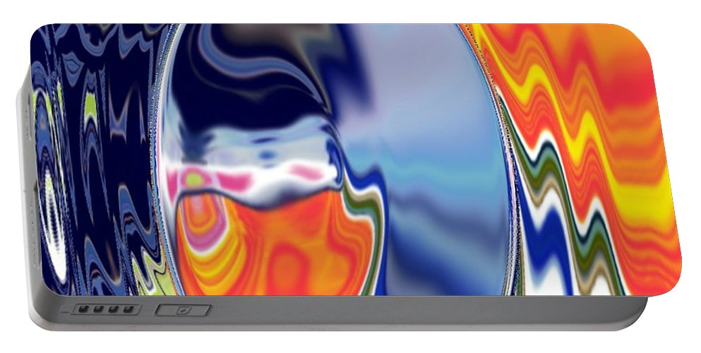 Abstract  Artwork Portable Battery Charger featuring the digital art Ooo by A z akaria Mami
