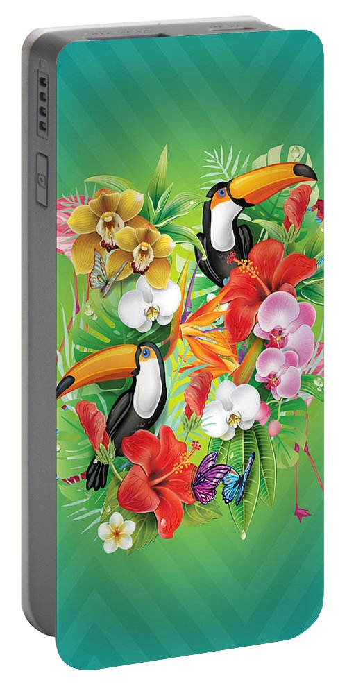 Animals Portable Battery Charger featuring the photograph Tropical Karnaval by Mark Ashkenazi