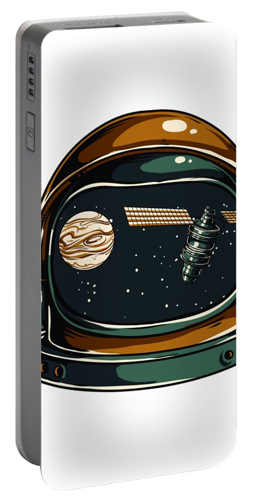 Spaceman Portable Battery Charger featuring the digital art Astronaut by Passion Loft