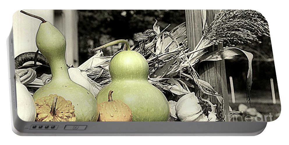 Farm Stand Portable Battery Charger featuring the photograph Autumn Farm Stand by Smilin Eyes Treasures