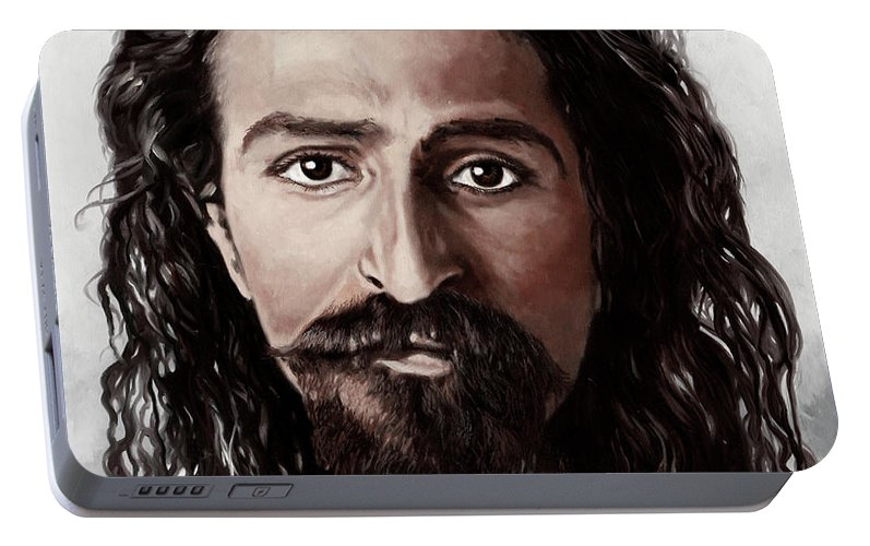Avatar Meher Baba Portable Battery Charger featuring the painting Avatar Meher Baba by Guido Borelli