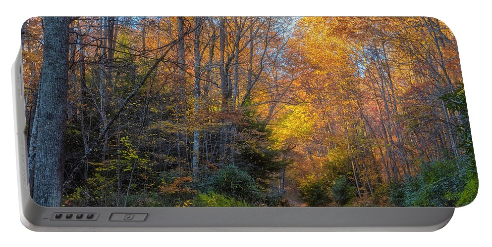 Back Road Beauty Portable Battery Charger featuring the photograph Back Road Beauty by Russell Pugh