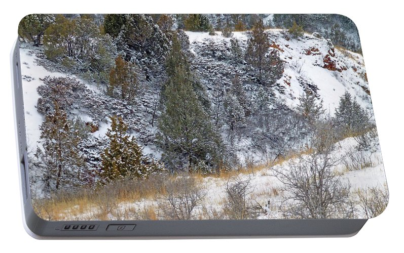 North Dakota Portable Battery Charger featuring the photograph Badlands Winter by Cris Fulton