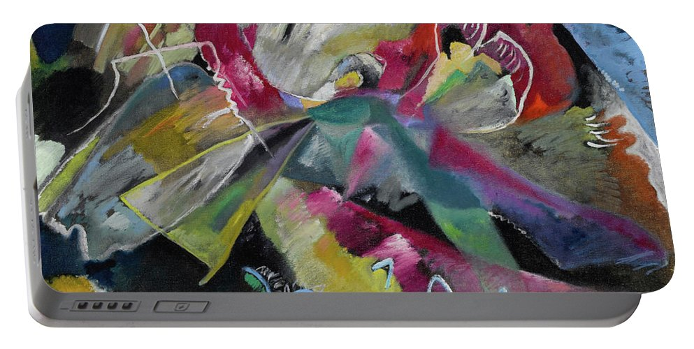 Kandinsky White Lines Portable Battery Charger featuring the painting Bild Mit Weissen Linien - Painting With White Lines by Wassily Kandinsky