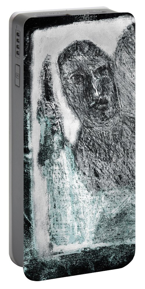 Black Ivory Portable Battery Charger featuring the drawing Black Ivory Issue 1b60a by Artist Dot