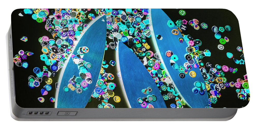 Surfboarding Portable Battery Charger featuring the photograph Blue Boarding Bay by Jorgo Photography - Wall Art Gallery