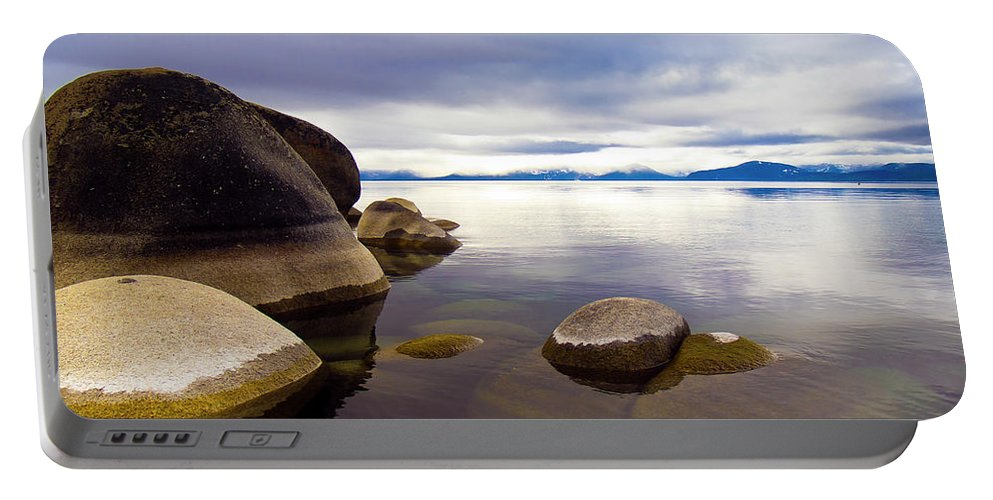 Landscape Portable Battery Charger featuring the photograph Boulders At Sand Harbor by Christopher Johnson